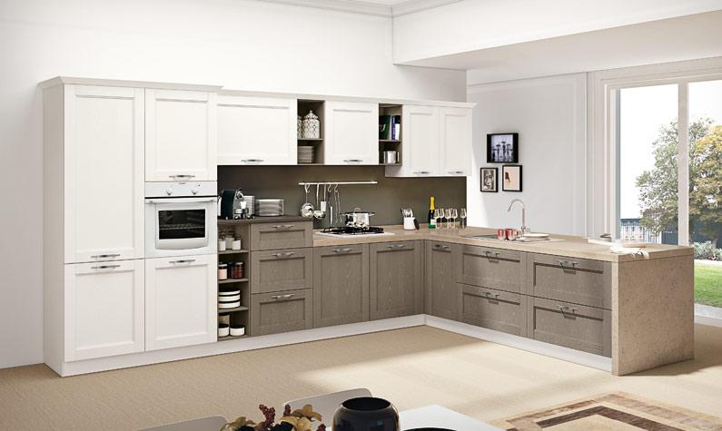 Cucina classica rivisitata moderna arredare senza errori for Arredare casa classica moderna