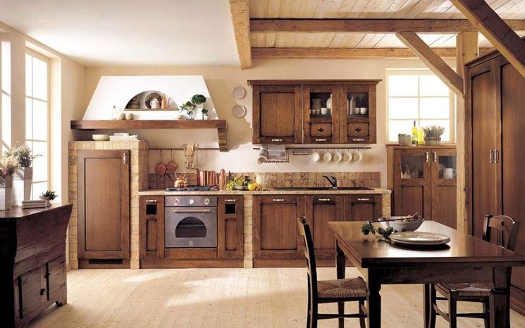 cucina-rustica-in-muratura - Arredare Senza Errori